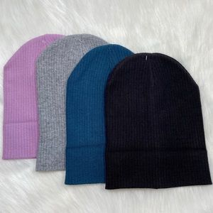 Womens Beanie Hat Stretch Soft Ribbed